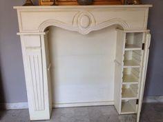 Faux Fireplace Mantels, Small Fireplace, Rustic Fireplaces, Fireplace Surrounds, Fireplace Design, Mantles, Fireplace Cover, Fireplace Drawing, Cabin Fireplace