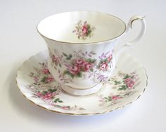 Vintage Royal Albert Cup and Saucer Lavender by TheWhistlingMan