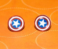 Avengers Captain America Shield Earrings