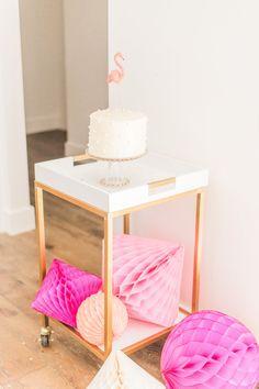 Cake cart from a Cactus + Flamingo Themed Summer Party on Kara's Party Ideas | KarasPartyIdeas.com (17)
