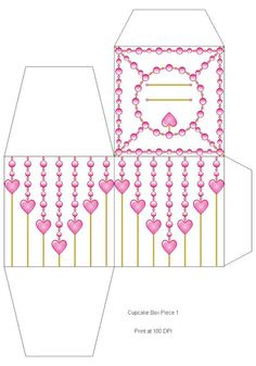 Printables - Katie Barwell - Picasa Web Albums Gold Cupcakes, Fun Cupcakes, Printable Box, Printables, Brick Stitch Earrings, Cupcake Boxes, Free Boxes, Cheap Gifts, Free Coloring Pages