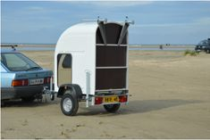 The Danish company Wide Path Camper has just launched a light weight micro camper called Homie. The tiny camper weighs a mere 200 kg and has 300 L of storage sp Diy Teardrop Trailer, Diy Camper Trailer, Trailer Tent, Travel Trailer Camping, Tiny Camper, Car Camper, Diy Camping, Micro Campers, Auto Camping