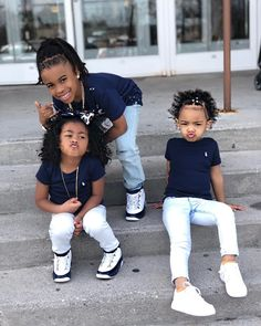 Cute Mixed Babies, Cute Black Babies, Black Baby Girls, Beautiful Black Babies, Cute Baby Girl, Beautiful Children, Cute Babies, Cute Kids Fashion, Cute Outfits For Kids