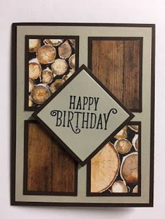My Creative Corner!: Happy Birthday Gorgeous, Wood Textures Decorative Series Paper, Masculine Birthday Card, Stampin' Up!, Rubber Stamping, Handmade Cards