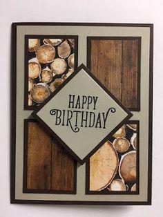 My Creative Corner!: Happy Birthday Gorgeous, Wood Textures Decorative Series Paper, Masculine Birthday Card