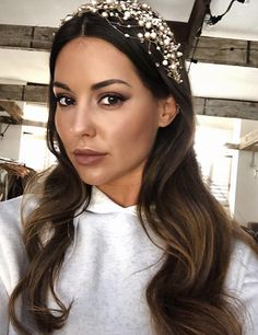 Louise Thompson | Made in Chelsea Louise Thompson, Made In Chelsea, Gorgeous Hair, Locks, Crown, How To Make, Wedding, Beauty, Style