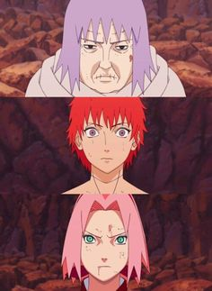 Sakura from Konoha and grany Chiyo from hidden sand were fighting together against Sasori akatsuki member. Description from otakukart.com. I searched for this on bing.com/images