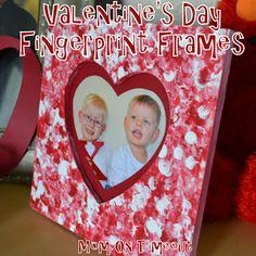 Valentine's Day Fingerprint Frames {Craft}