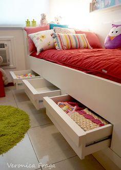 gavetas cama
