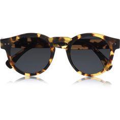 Leonard round-frame acetate sunglasses by Illesteva Illesteva Sunglasses, Round Lens Sunglasses, Ray Ban Sunglasses Sale, Tortoise Shell Sunglasses, Cheap Sunglasses, Sunglasses Online, Black Sunglasses, Sunglasses Women, Cheap Ray Bans
