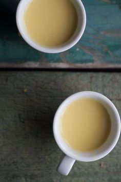 Golden Milk: Turmeric and Ginger Tea with Coconut Milk or What I'll be drinking this winter.