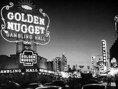 The Golden Nugget Gambling Hall Lighting Up Like a Candle Photographic Print by J. R. Eyerman at Art.com