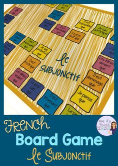 French grammar, vocabulary, and conjugation games for beginning and intermediate students of FSL and Core French classes from Mme R's French Resources French Teaching Resources, Teaching French, Teaching Ideas, Teaching Spanish, Teaching Grammar, Spanish Activities, Teaching Reading, French Flashcards, French Worksheets