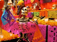 colour and setting inspiration for a themed arty - dia de los muertos
