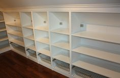 Walk in closet. No Closet Solutions, Walking Closet, Master Bedroom Closet, Ikea Pax, Attic Renovation, Dressing Room, Home Organization, Home Projects, Home Art
