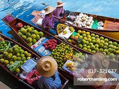 "Food is gathered from local markets that are often called ""floating markets"" as they are on boats in the water. You can purchase goods at riverside, and these are often more respected than grocery stores because they value local foods."