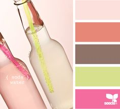 #Colour #palette #pink #lime #coral #inspiration #craft #DIY