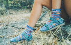 For when you want to off-road it a little bit. Keep the hike alive and don't let itchy ankles get you down by wearing socks with your sandals. A pair of rad socks like these will take your look to new levels.