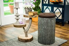 Paige Hemmis is making her own outdoorsy stools.