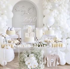 Baby Shower Themes Neutral, Baby Girl Shower Themes, Girl Baby Shower Decorations, Baby Shower Gender Reveal, Babyshower Themes For Boys, Baby Boy Christening Decorations, Girl Baby Shower Cakes, Baby Shower For Girls, Party Decoration Ideas