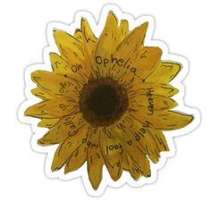The Lumineers Ophelia Flower Sticker Laptop Stickers, Cute Stickers, Hippie Music, The Lumineers, Tumblr Stickers, Framed Prints, Art Prints, Body Mods, Stickers