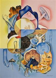 Fungi / Rita Angus / circa / oil on board Tamara Lempicka, Francoise Gilot, Composition Art, New Zealand Art, Teaching Art, Botany, Art And Architecture, Artsy Fartsy, Art Boards