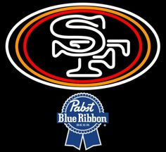 Pabst Blue Ribbon San Francisco 49ers NFL Neon Sign 1 0019, Pabst with NFL Neon Signs | Beer with Sports Signs. Makes a great gift. High impact, eye catching, real glass tube neon sign. In stock. Ships in 5 days or less. Brand New Indoor Neon Sign. Neon Tube thickness is 9MM. All Neon Signs have 1 year warranty and 0% breakage guarantee.
