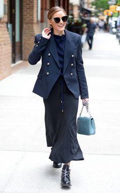 Olivia Palermo In Tribeca, New York City.