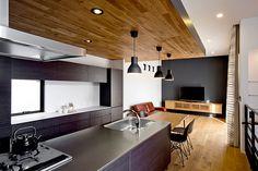 プライバシー性の高い開放的なリビング空間・間取り(愛知県名古屋市) | 注文住宅なら建築設計事務所 フリーダムアーキテクツデザイン