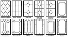 offer a wide range of decorative leaded glazing designs that give you the chance to personalise your home even