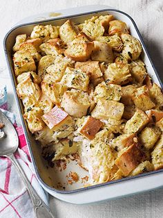 Savory Bread Pudding with Fresh Chives