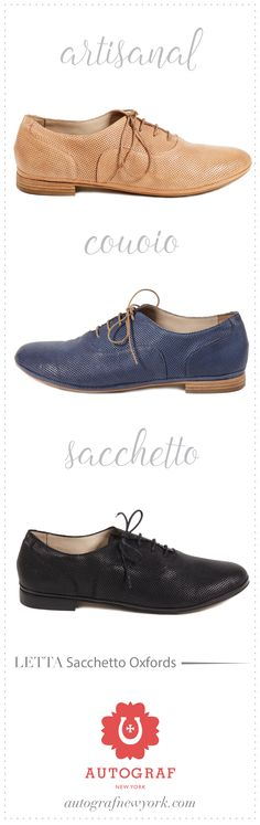 Soft & comfortable artisanal Oxfords made in Italy. You can't beat Sacchetto construction comfort. Fits like a glove. #autografny