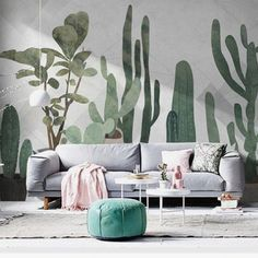 Watercolor Hand Painted Cactus Tropical Plants Wallpaper Wall Mural, Watercolor Cactus Wall M. Watercolor Hand Painted Cactus Tropical Plants Wallpaper Wall Mural, Watercolor Cactus Wall Mural, H, Wallpaper Wall, Plant Wallpaper, Hand Painted Wallpaper, Tropical Wallpaper, Hand Painted Walls, Painted Wall Murals, Wall Mural Painting, Custom Wall Murals, Watercolor Cactus