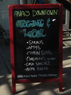 We like keeping things organic and local.  https://www.facebook.com/pages/Avas-Downtown-Market-Deli/326790720682124?ref=hl