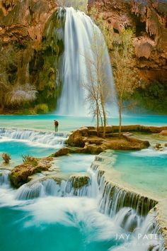 Paradise Crossing, Havasu Falls, Grand Canyon National Park, Arizona, USA