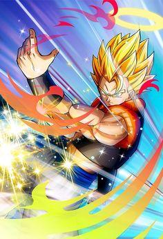 Gogeta SSJ card [Bucchigiri Match] by on DeviantArt Dragon Ball Z, Dragon Ball Image, Gogeta And Vegito, Z Wallpaper, Drawing Challenge, Anime Demon, Anime Art, Otaku, Nice