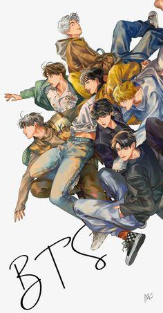 Bts Blackpink, Bts Taehyung, Bts Chibi, Bts Lockscreen, Foto Bts, Bts Anime, Fanart Bts, K Wallpaper, Kpop Drawings