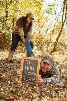 Cute Idea  Country Engagement photo Love it!  Had to share this because it reminds me of a certain someone.
