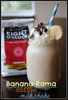 Banana-Rama Coffee Milkshake - Shugary Sweets
