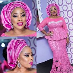 Ankara Styles 2017 for Ladies : Beautiful CollectionsLatest Ankara Styles and Aso Ebi Styles 2020 Nigerian Lace Styles, African Lace Styles, African Dresses For Women, African Attire, African Wear, African Fashion Dresses, African Women, Nigerian Beads, African Outfits
