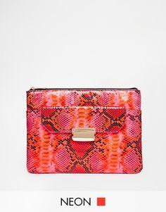 ASOS Co-ord Flap Pocket Zip Top Clutch Bag