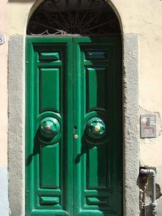 green Street Art, Windows, Doors, Green, Home Decor, Slab Doors, Homemade Home Decor, Window, Interior Design
