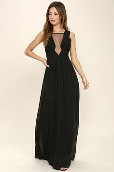 Get ready to stun in the Dazzling Decadence Black Maxi Dress! A pleated 6a2b0988e