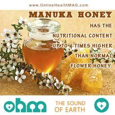 What makes Manuka honey different is its amazing nutritional profile.  #nutrition #manukahoney