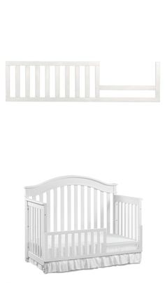 Bed Rails 162183 Evolur Convertible Crib Toddler Guard Rail In White7 Pound