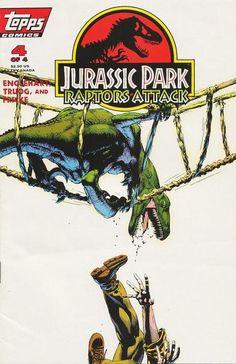 Jurassic Park Raptors Attack Vol.1 4, June 1994. Cover by Michael Golden.