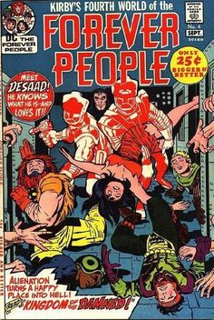 FOREVER PEOPLE 4, JACK KIRBY, BRONZE AGE DC COMICS