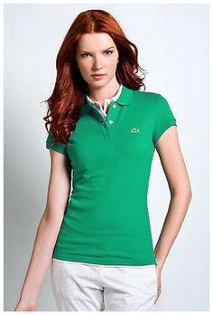 ralph lauren sales! Soldes Polo Lacoste Femmes revers court T Shirt vert pas chers en ligne