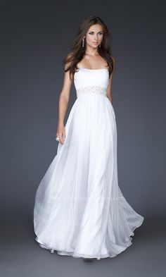 Dress, Flowing White Formal Dress 15946 - Simply Dresses