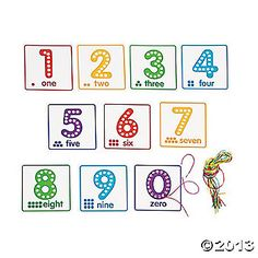 Number Lacing Cards - easy to make